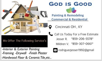 Avatar for God is good painting and remodeling Cincinnati, OH Thumbtack
