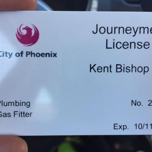 Journeyman plumber license