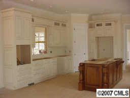 Custom painted white kitchen
