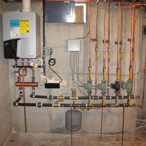 Top of the Line Rinnai Q130 Boiler 96% Efficient
