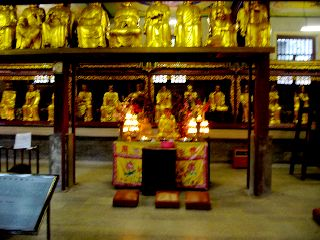 Inside the temple of 1,000 Buddahs.
