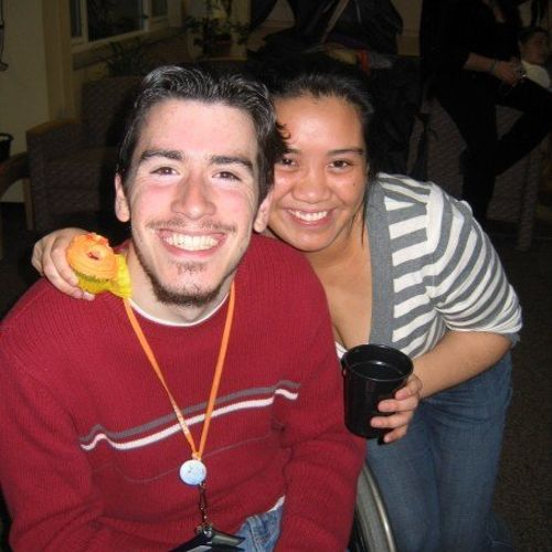 My fiancee and me back in our college days