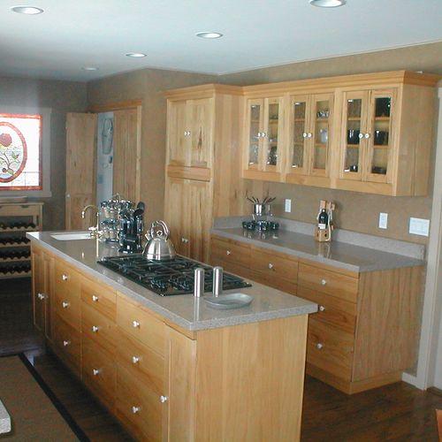 Light wood cabinets