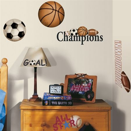 Play Ball Peel and Stick Wall Decals