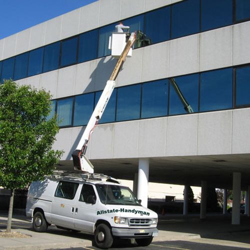 Commercial window cleaning.