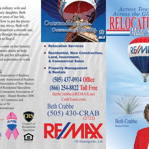 Beth Crabbe Tri-Fold Brochure side 1