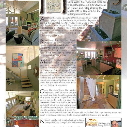 Zen Harmony Real Estate Flyer