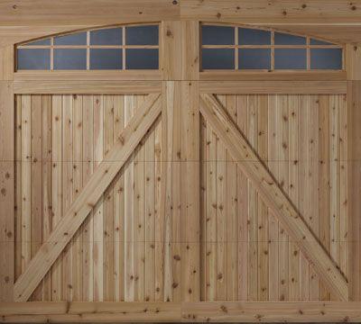Custom Carriage Wood Door