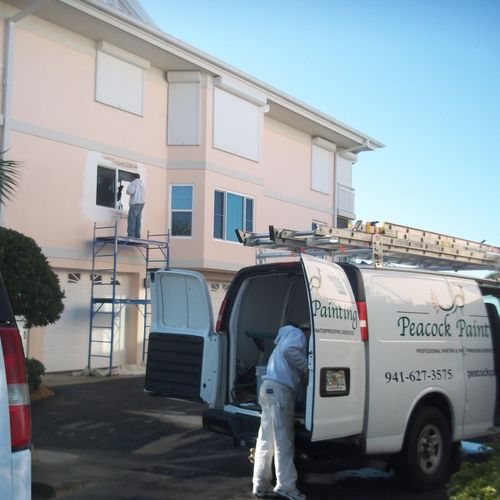 Peacock Painting Services Staff arrives on site.