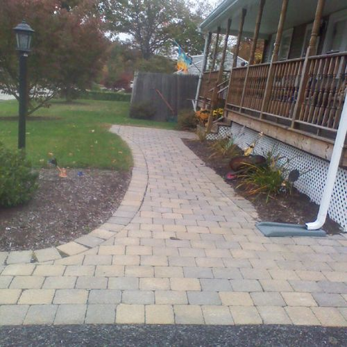Paver walkway Marlborough Ma.