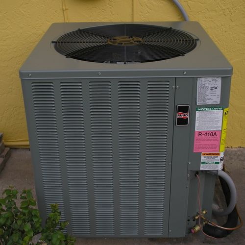 10 year warranty on all new air conditioning systems.
