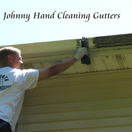Our gutter cleaning system removes the stains.