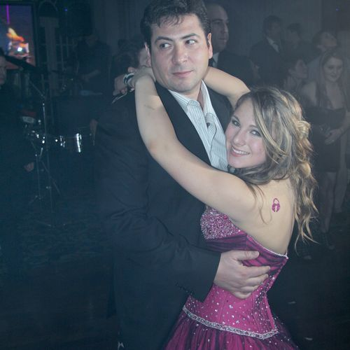 B'not Mitzvah girl dancing with her daddy.