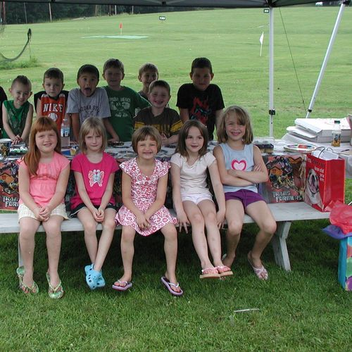 Group picture of a birthday party