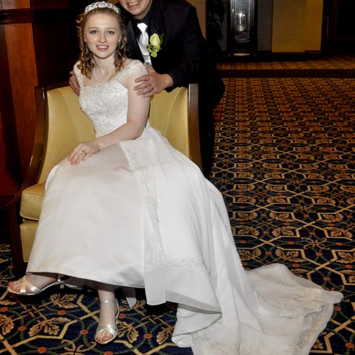 A photo after the wedding at Hotel Roanoke.