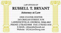 UGA Law Dawg Business Card