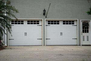 Single, Small Carriage Metal Doors