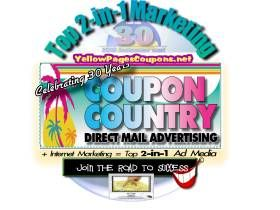 Top 2-in-1 Rated Marketing -  Direct Mail  and Internet including cost-effective SEO and coupons, fo course and Groupon-like advertising and websites
