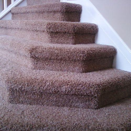 Custom Upholstered steps.
