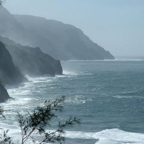 "Kauai: the Na Pali Coast, November 2005 cruise on ""Island Princess."""