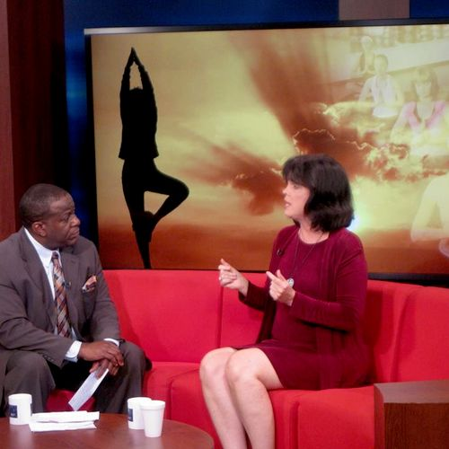 """Being Interviewed about the state of """"mainstream medicine"""" vs the holistic health model on The Stan Simpson Show. June 2013 Hartford, CT"""