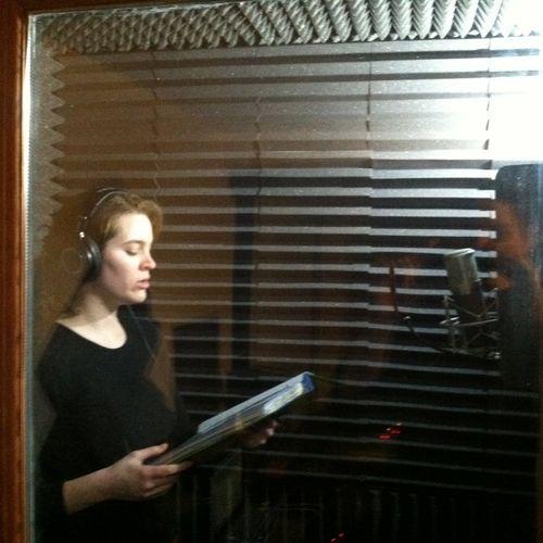 Marie Smith rehearsing