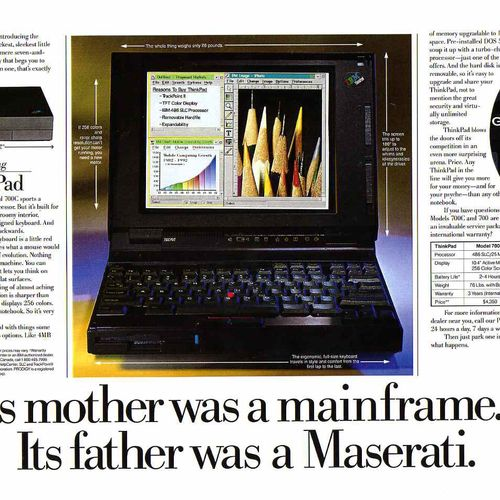 Ad for IBM Thinkpad