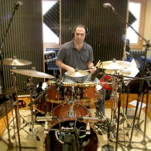 Tracking drums in one of our partner studios.