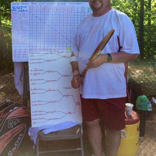 Frick Wooden Racquet Tennis Tournament 2015 Lost in the semi-final