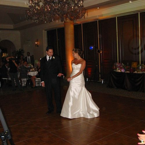 Amanda and Adam getting ready to do their 1st dance