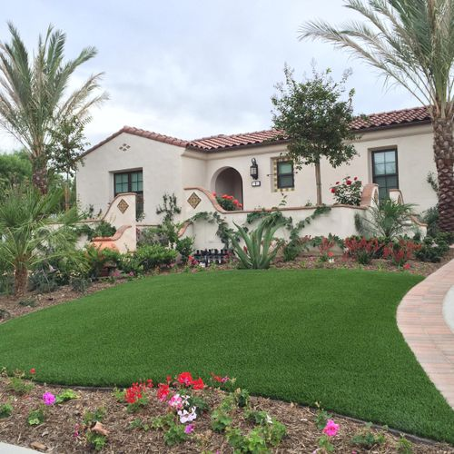 Artificial turf installed in Ladera Ranch, CA
