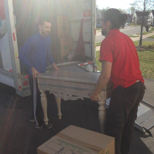 JC & I moving a 5 Bedroom home :)