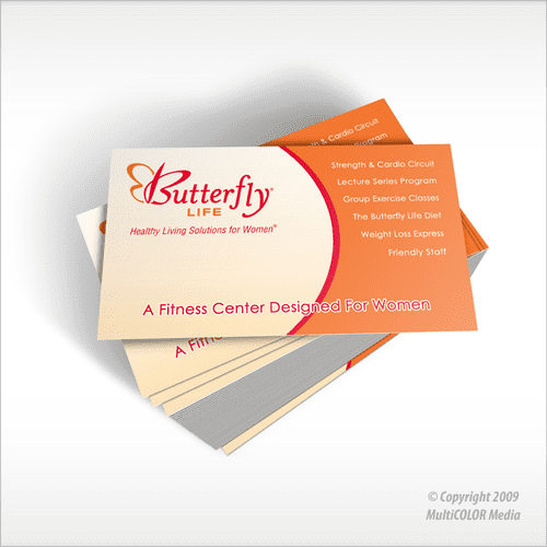 Butterfly Life Business Card Design - Copyright MultiCOLOR Media