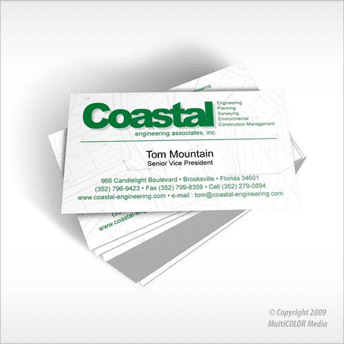 Coastal Engineering Business Card Design - Copyright MultiCOLOR Media