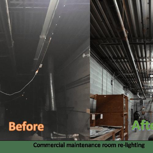 Maintenance Room Lighting update.