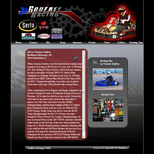 Godfrey Racing Built by DMPC Charlotte Web Designers http://dmpcwebdesigns.com
