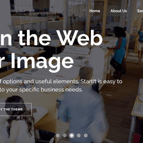 Large modern slider on a WordPress website