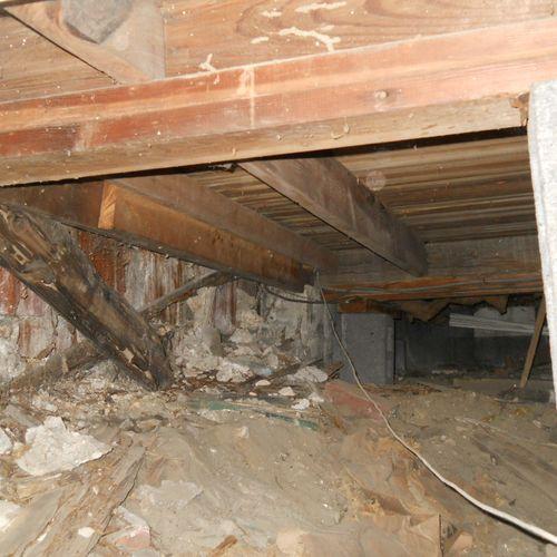 Damaged framing in crawl space needs repair