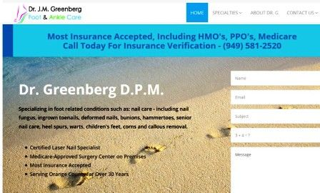 Dr. Greenberg DPM Website