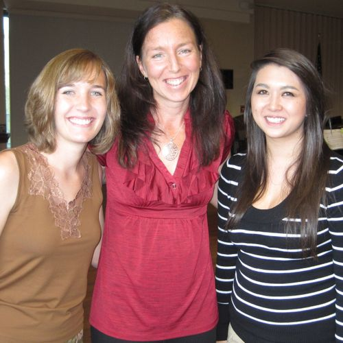 The three teachers at Springboard Piano, from left to right: Maria Kuhn, Becky Dirksen, and Stephanie Shorden