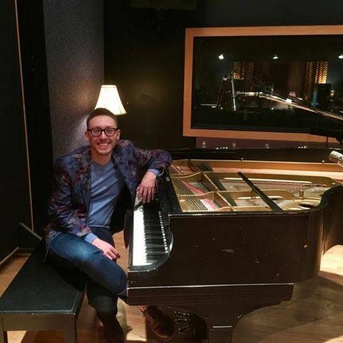 """In the studio recording my solo piano album """"Dreamscapes"""""""