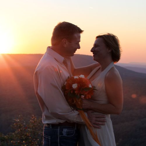 A beautiful sunset wedding