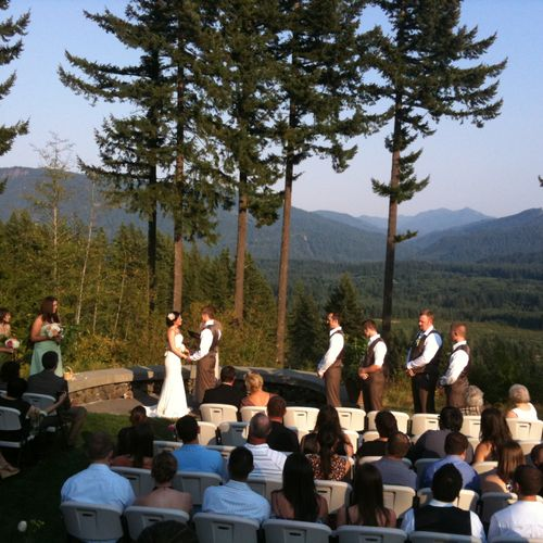 One of the most beautiful wedding locations we've been invited to provide A/V and music for