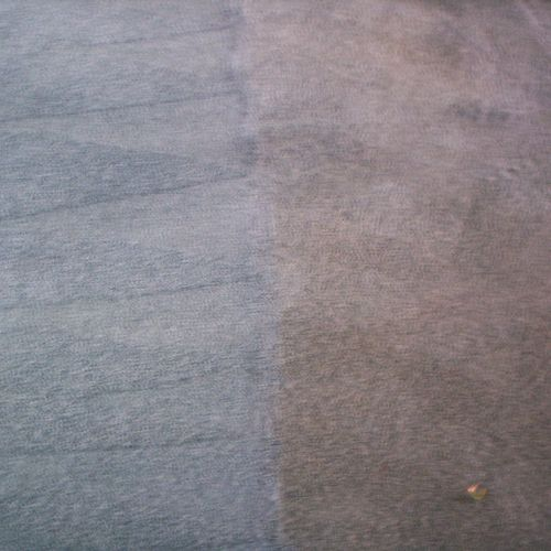 A young couple were purchasing their first home, they thought the carpet was brown. When we started cleaning it the carpet was actually blue. The couple was surprised and extremely happy, they liked the blue color better.