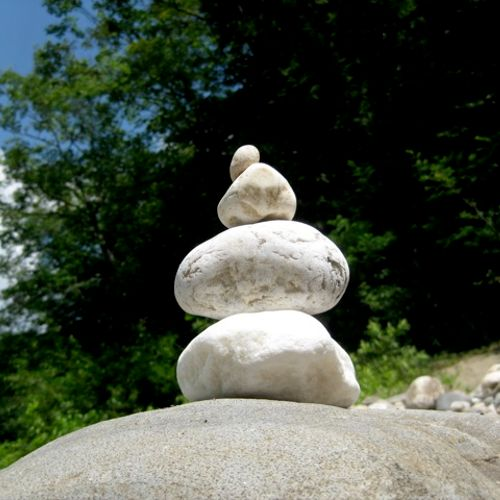 These is my photo of rocks that I had balanced at a gorge in W. MA.  Balancing rocks is a practice and an art I enjoy that I think is similar to massage and bodywork.