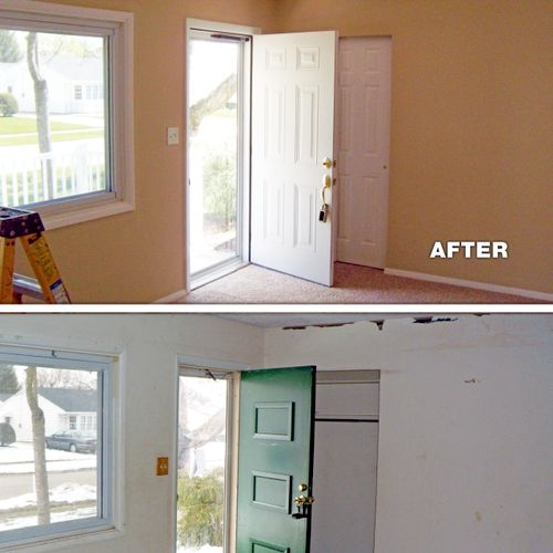 Remodel - before and after (entry way)
