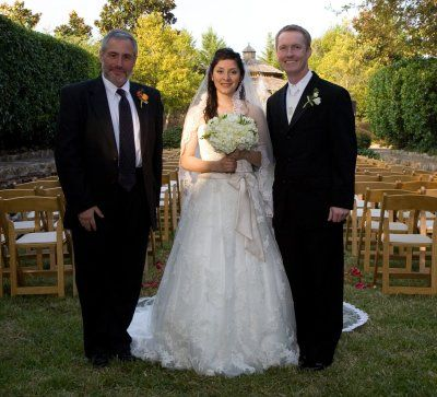 Reverend Brian with another happy couple.