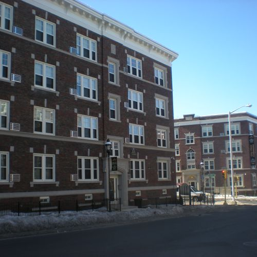 Commercial project in Springfield, MA. Contractor purchased windows, we supplied the labor to install them.