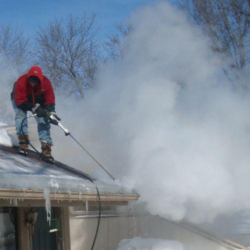 Ice Dam Removal via steam