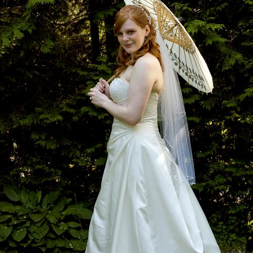 A beautiful bride on her special day.